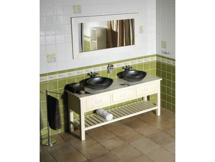 SAPHO Koupelnový set BRAND 160, dvě umyvadla, starobílá KSET-013