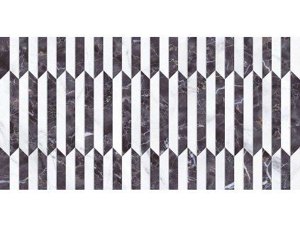 STATUARIO Deco Abadía Negro 34x67 (bal=1,37m2) od výrobce Gayafores. Série: STATUARIO. Styl: art-deco, dekorativni. Rozměry: 34x67 cm. Balení: 1,0000 m2. Materiál: keramika. Barva: studená. Použití: obklad. Povrch: lesk. Umístění: chodba, koupelna, kuchyň, obývací pokoj, technický prostor. Produkt z kategorie: Obklady a dlažby > Dekorativní obklady. <p>Z důvodu zvýšených nákladů na logistiku obkladů a dlažeb je <strong>minimální hodnota celkové objednávky 15.000 Kč</strong> (hodnota objednávky je součet všech objednaných produktů).</p>