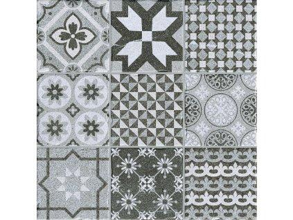 DOLOMITE Decor Grey 50x50 (bal=1,25m2) od výrobce CODICER. Série: DOLOMITE. Styl: dekorativni, patchwork, retro. Rozměry: 50x50 cm. Balení: 1,0000 m2. Materiál: keramika. Barva: studená. Použití: dlažba. Povrch: mat. Umístění: chodba, koupelna, kuchyň, obývací pokoj, technický prostor, terasa. Produkt z kategorie: Obklady a dlažby > Dlažby. <p>Z důvodu zvýšených nákladů na logistiku obkladů a dlažeb je <strong>minimální hodnota celkové objednávky 15.000 Kč</strong> (hodnota objednávky je součet všech objednaných produktů).</p>