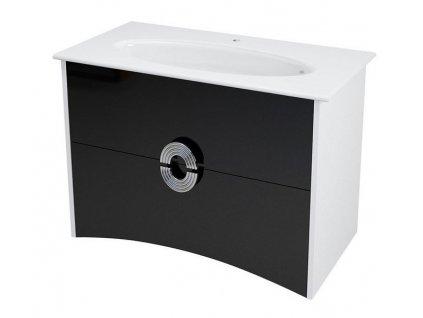 SAPHO AVEO umyvadlová skříňka 75x58x48,2cm, bílá/černá AV080