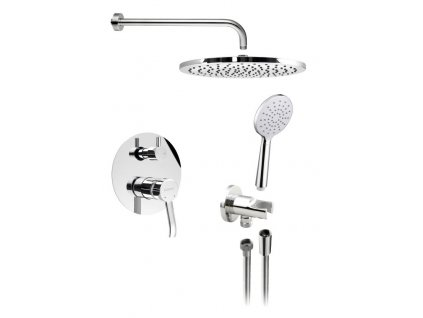 SAPHO LUKA podomítkový sprchový set s pákovou baterií, 2 výstupy, chrom LK43-01 - Sprchový program > Podomítkové sprchové sety