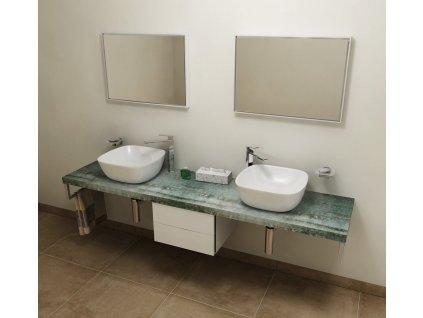 SAPHO AVICE deska 210x50cm, aquamarine AV216
