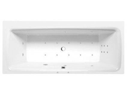 POLYSAN KVADRA HYDRO-AIR hydromasážní vana, 170x80x47cm, bílá 18611HA - Vany > Hydromasážní vany