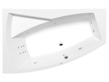 POLYSAN EVIA L HYDRO hydromasážní vana, 170x100x47cm, bílá 21611H - Vany > Hydromasážní vany