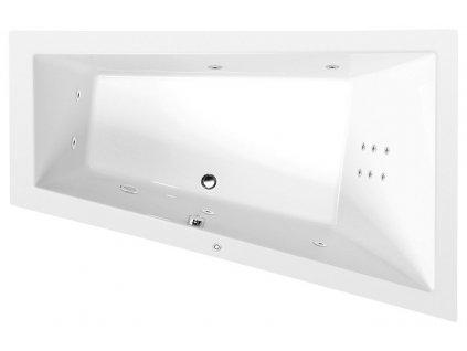 POLYSAN TRIANGL R HYDRO hydromasážní vana, 180x120x50cm, bílá 20611H - Vany > Hydromasážní vany
