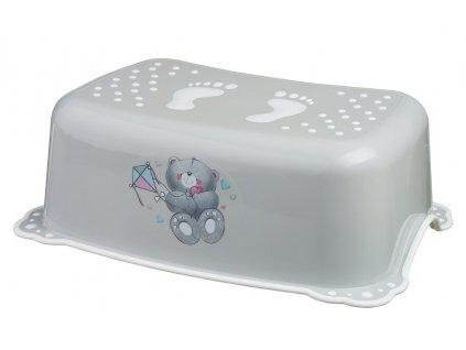 Aqualine Dětské protiskluzové stupátko do koupelny Medvídek, šedá 7768