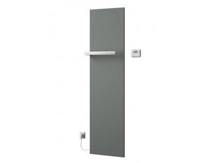 SAPHO ELION elektrické otopné těleso včetně termostatu 456 x 1765 mm, 600 W, metalická stříbrná IR502