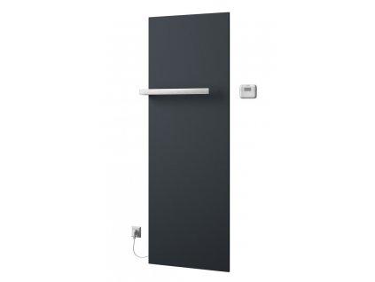 SAPHO ELION elektrické otopné těleso včetně termostatu 606 x 1765 mm, 900 W, metalická antracit IR510