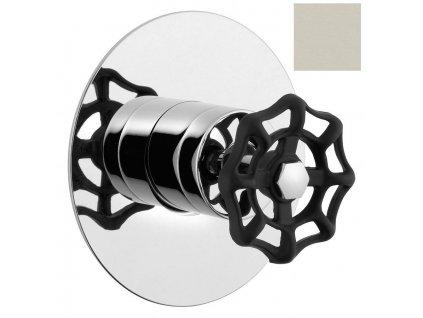 REITANO INDUSTRY podomítková sprchová baterie, 1 výstup, nikl/černá 5105XTT8 - Vodovodní baterie > Sprchové baterie