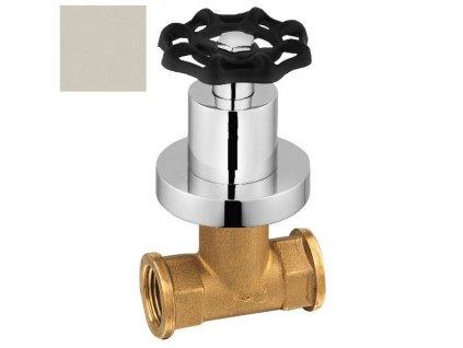 REITANO INDUSTRY podomítkový ventil, studená, nikl/černá 505TTC8 - Vodovodní baterie > Podomítková tělesa