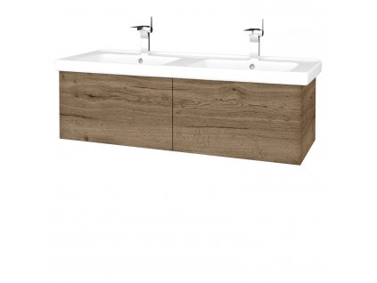 Dřevojas Koupelnová skříň VARIANTE SZZ2 125 (umyvadlo Harmonia)