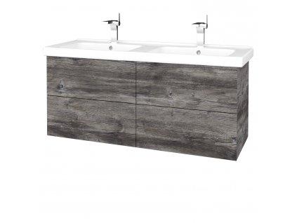 Dřevojas Koupelnová skříň VARIANTE SZZ4 125 (umyvadlo Harmonia)