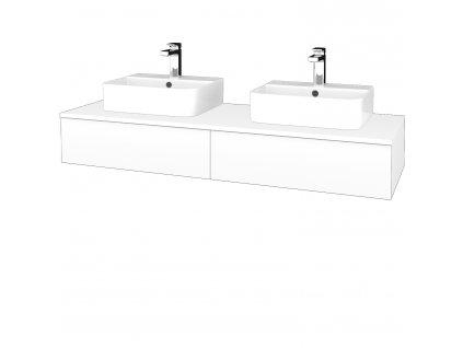 Dřevojas Koupelnová skříňka MODULE SZZ2 140