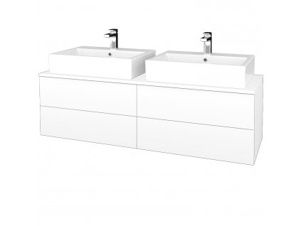 Dřevojas Koupelnová skříňka MODULE SZZ4 140