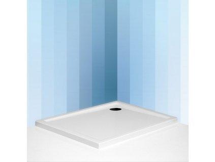 Roth FLAT KVADRO obdelníková sprchová vanička 80 x 90 x 5 cm 8000161 akrylátová bílá