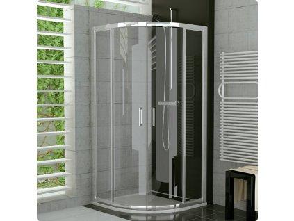 Sanswiss TER 1000 sprchový kout čtvrtkruhový 100x100, rám aluchrom, sklo čiré