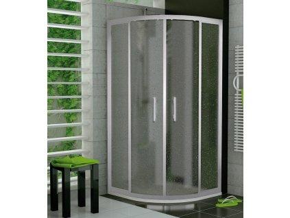 Sanswiss TOPR 800 sprchový kout čtvrtkruhový 80x80 rám aluchrom, sklo cristal perly