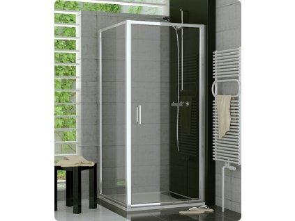 Sanswiss TOPP 800 sprchový kout čtvercový 80x80 rám bílý, sklo čiré