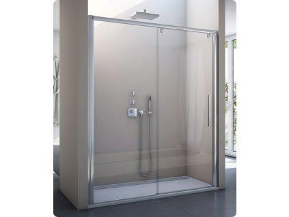 Sanswiss Pur Light S - PLS2- jednodílné posuvné dveře 160 cm, bílý rám, sklo čiré