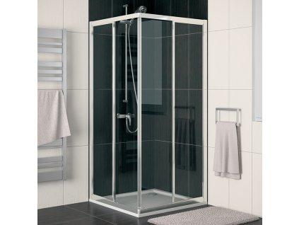 SanSwiss Ronal ECO-LINE 70 cm levé sprchové dveře sklo Durlux ECOG07000422, barva profilu Bílá