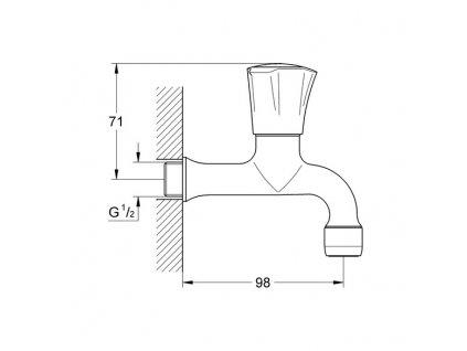 Grohe Costa výpustní ventil, chrom 30098001