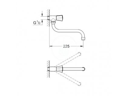 Grohe Costa výpustní ventil, chrom 30484001