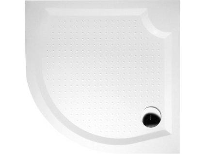 Sapho VIVA GV551 čtvrtkruhová vanička z litého mramoru 100 x 100cm