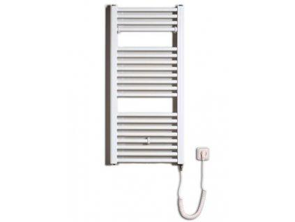 Otopné těleso / radiátor / topný žebřík: Thermal Trend KD-E 450 x 960 elektrický topný žebřík rovný, 300W KD-E 450/960 od značky Thermal Trend. Šířka: 450 mm. Výška: 960 mm. Výkon: 300 W. Barva: Bílá. Materiál: Ocel. Možnost vytápění: Elektrické vytápění. Doporučená topná tyč o výkonu: 300 W. Doporučené umístění: Chodba, koupelna nebo WC. Rozměry (šxv): 450 x 960 mm. Tvar: Rovný.
