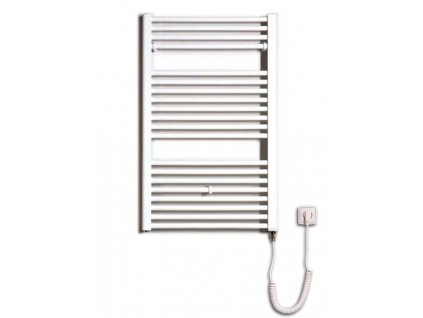 Otopné těleso / radiátor / topný žebřík: Thermal Trend KD-E 600 x 960 elektrický topný žebřík rovný, 400W KD-E 600/960 od značky Thermal Trend. Šířka: 600 mm. Výška: 960 mm. Výkon: 400 W. Barva: Bílá. Materiál: Ocel. Možnost vytápění: Elektrické vytápění. Doporučená topná tyč o výkonu: 400 W. Doporučené umístění: Chodba, koupelna nebo WC. Rozměry (šxv): 600 x 960 mm. Tvar: Rovný.