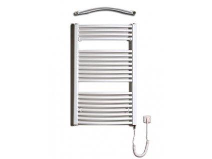 Otopné těleso / radiátor / topný žebřík: Thermal Trend KDO-E 600 x 960 elektrický topný žebřík oblý, 400W KDO-E 600/960 od značky Thermal Trend. Šířka: 600 mm. Výška: 960 mm. Výkon: 400 W. Barva: Bílá. Materiál: Ocel. Možnost vytápění: Elektrické vytápění. Doporučená topná tyč o výkonu: 400 W. Doporučené umístění: Chodba, koupelna nebo WC. Rozměry (šxv): 600 x 960 mm. Tvar: KDO-E, Oblý.