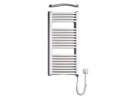 Otopné těleso / radiátor / topný žebřík: Thermal Trend KDO-E 450 x 960 elektrický topný žebřík oblý, 300W KDO-E 450/960 od značky Thermal Trend. Šířka: 450 mm. Výška: 960 mm. Výkon: 300 W. Barva: Bílá. Materiál: Ocel. Možnost vytápění: Elektrické vytápění. Doporučená topná tyč o výkonu: 300 W. Doporučené umístění: Chodba, koupelna nebo WC. Rozměry (šxv): 450 x 960 mm. Tvar: KDO-E, Oblý.