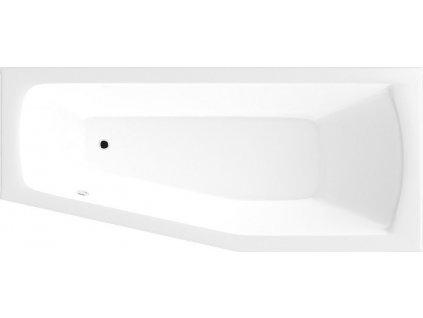 AQUALINE OPAVA vana 170x70x39cm bez nožiček, pravá, bílá A1771 - Vany > Asymetrické vany