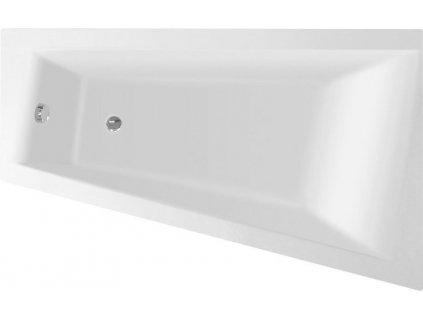 Aqualine METUJE asymetrická vana 160x100x42cm pravá G3621 - Vany
