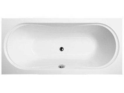 Vagnerplast Briana obdélníková vana 180 x 80 x 43cm BR180 - Vany > Obdelníkové vany