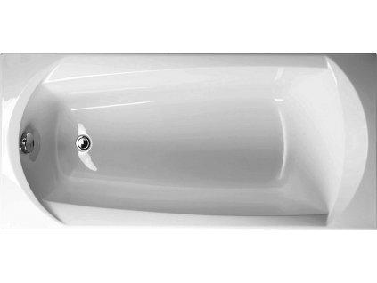 Vagnerplast Ebony obdélníková vana 160 x 75 x 42cm EB160 - Vany > Obdelníkové vany