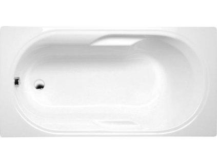POLYSAN MIRELA obdélníková vana 160x75x43cm, bílá 40111 - Vany > Obdelníkové vany