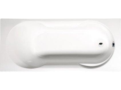 POLYSAN SATINA obdélníková vana 180x80x42cm, bílá, 30111 - Vany > Obdelníkové vany