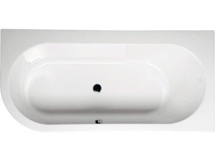 POLYSAN ASTRA R asymetrická vana 165x80x48cm, bílá 34611 - Vany > Obdelníkové vany