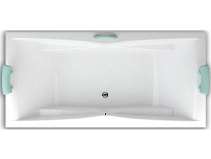 Teiko Corona vana obdélníková 190 x 80 VVT5001 - Vany > Obdelníkové vany