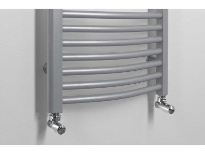 Aqualine DIRECT otopné těleso s bočním připojením 450 x 1330 mm, 539 W, metalická stříbrná ILS34