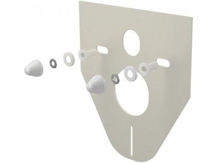 AlcaPLAST Izolační deska pro závěsné WC a bidet s příslušenstvím a krytkou  bílá