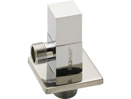 AlcaPLAST Rohový ventil 1/2˝×3/8˝ čtyřhran