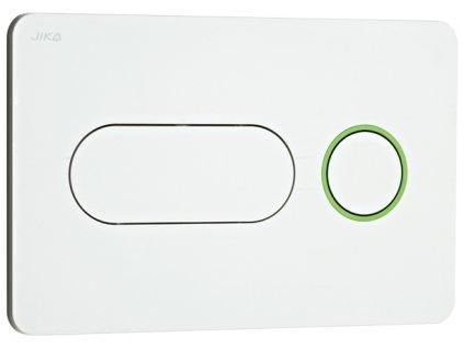 Jika Tlačítko JIKA PL8 Dual Flush bílé, zelený kroužek