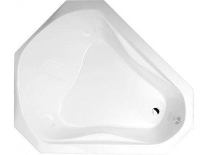 POLYSAN SAMORA nepravidelná vana 163x139x51cm, bílá 75111 - Vany > Asymetrické vany