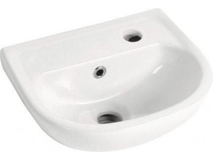 AQUALINE OVAL keramické umývátko 35x29cm