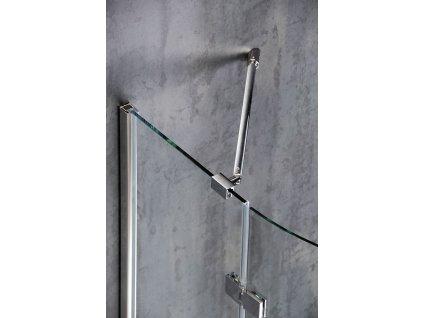 POLYSAN Rohová vzpěra stěna / sklo, chrom