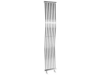 Otopné těleso / radiátor / topný žebřík: SAPHO ONDA otopné těleso 300 x 1700mm, 400W, chrom 1801-03 od značky Sapho. Série: Onda. Šířka: 300 mm. Výška: 1700 mm. Výkon: 400 W. Barva: Chrom. Materiál: Ocel. Možnost vytápění: Kombinované vytápění. Doporučená topná tyč o výkonu: 400 W. Doporučené umístění: Koupelna. Rozměry (šxv): 300 x 1700 mm. Rozteč připojení přesně: 200 mm. Styl: Designový. Tvar: Designový, Tvar I. Připojení: Středové připojení.