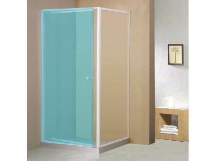 AQUALINE AMICO boční stěna, sklo, pevná část, 800 mm