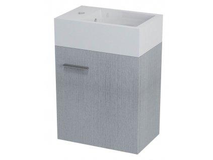 Sapho LATUS V umyvadlová skříňka 35,6x40x23cm, dub stříbrný (LT510) - LT056-1111
