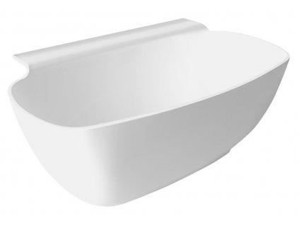 POLYSAN NIGRA volně stojící vana litý mramor 158x80x45cm, bílá 82511 - Vany > Volně stojící vany